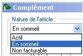 logiciel EBP Gestion commerciale 2006: les articles